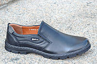 Туфли мужские без шнурков искусственная кожа черные прошиты, легкие 2017. Только 41р!