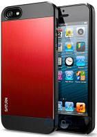 Чехол SGP Case Saturn Metal Apple iPhone 5, iPhone 5S, iPhone SE Red (SGP10143)