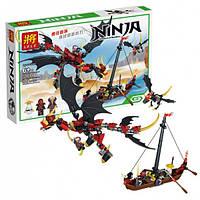 """Конструктор Lele Ninja 31014 """"Нападение дракона"""", 329 деталей KK"""