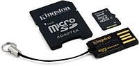 Карта памяти Kingston microSDHC 32 GB (+ SD адаптер, USB миникардридер)