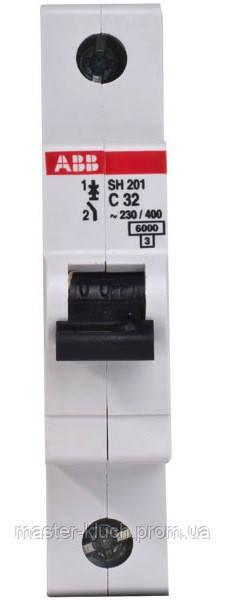 Автоматический выключатель АВВ SH201 C32, 32А однополюсный
