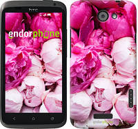 "Чехол на HTC One X+ Розовые пионы ""2747c-69-532"""