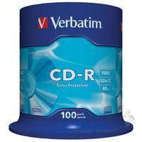 Диск Verbatim CD-R 700Mb 52x Cake box 100 Extra (43411)