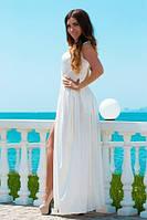 Белое облегающее платье Золото