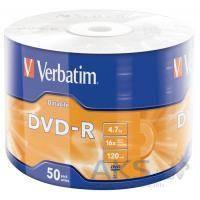 Диск Verbatim DVD-R 4.7Gb 16X Wrap-box 50pk Extra MATT SILVER (43791)