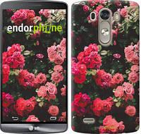 """Чехол на LG G3 dual D856 Куст с розами """"2729c-56-532"""""""