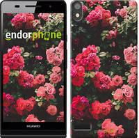 """Чехол на Huawei Ascend P6 Куст с розами """"2729c-39-532"""""""