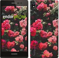"""Чехол на Huawei Ascend P7 Куст с розами """"2729c-49-532"""""""
