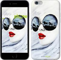 """Чехол на iPhone 6 Plus Девушка акварелью """"2829c-48-532"""""""