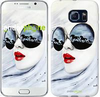"Чехол на Samsung Galaxy S6 G920 Девушка акварелью ""2829c-80-532"""
