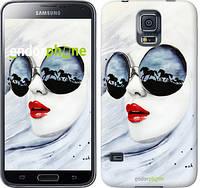 "Чехол на Samsung Galaxy S5 g900h Девушка акварелью ""2829c-24-532"""