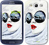 "Чехол на Samsung Galaxy S3 i9300 Девушка акварелью ""2829c-11-532"""