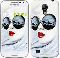 "Чехол на Samsung Galaxy S4 mini Девушка акварелью ""2829c-32-532"""