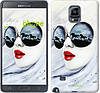 "Чехол на Samsung Galaxy Note 4 N910H Девушка акварелью ""2829c-64-532"""