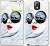 "Чехол на Samsung Galaxy Note 3 N9000 Девушка акварелью ""2829c-29-532"""
