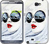 "Чехол на Samsung Galaxy Note 2 N7100 Девушка акварелью ""2829c-17-532"""