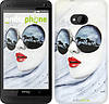 "Чехол на HTC One M7 Девушка акварелью ""2829c-36-532"""