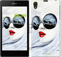 """Чехол на Sony Xperia Z1 C6902 Девушка акварелью """"2829c-38-532"""""""