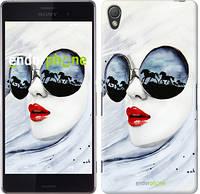 "Чехол на Sony Xperia Z3 D6603 Девушка акварелью ""2829c-58-532"""