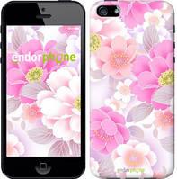 """Чехол на iPhone 5 Цвет яблони """"2225c-18-532"""""""