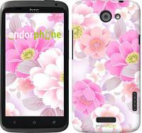 """Чехол на HTC One X Цвет яблони """"2225c-42-532"""""""