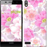 """Чехол на Huawei Ascend P6 Цвет яблони """"2225c-39-532"""""""