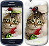 "Чехол на Samsung Galaxy S3 mini Новогодний котёнок в шапке ""494c-31-532"""