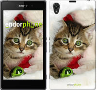"Чехол на Sony Xperia Z1 C6902 Новогодний котёнок в шапке ""494c-38-532"""
