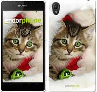 """Чехол на Sony Xperia Z2 D6502/D6503 Новогодний котёнок в шапке """"494c-43-532"""""""