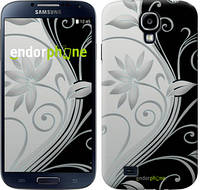 "Чехол на Samsung Galaxy S4 i9500 Цветы на чёрно-белом фоне ""840c-13-532"""