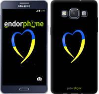 "Чехол на Samsung Galaxy A5 A500H Жёлто-голубое сердце ""885c-73-532"""