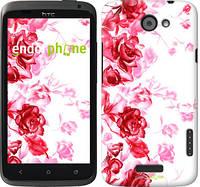 "Чехол на HTC One X+ Нарисованные розы ""724c-69-532"""