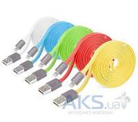 Кабель USB Yoobao Colourful iPhone 5 flat cable YB-406 (YB406-150cm-YE) Yellow