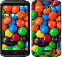 "Чехол на HTC One X M&M's ""1637c-42-532"""