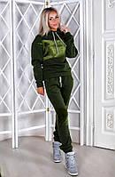 Женский Тёплый спорт костюм Плюш бутылочный