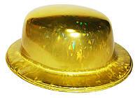 Карнавальная Шляпа Головной Убор Котелок Пластик Блестящая для Вечеринки