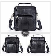 """Мужская сумка барсетка """"Everyday черная"""" из натуральной кожи, фото 1"""
