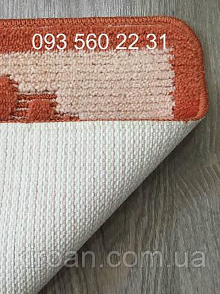 Коврик для ванной комнаты лапки Vonaldi (Турция) 40х60см оранжевый, фото 2