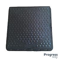 Люк квадратный полимерный Садовый черный 580 мм х 690 мм максимальный вес 1 тонна