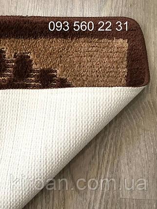 Коврик для ванной комнаты лапки Vonaldi (Турция) 40х60см коричневый, фото 2