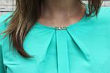 """Блузка женская с поясом однотонная зелёная """"Кери"""" , фото 5"""