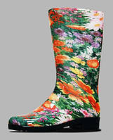 Сапоги резиновые для женщин с цветами Литма