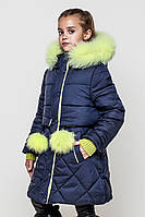 Зимнее модное пальто для девочки.Новинка 2017