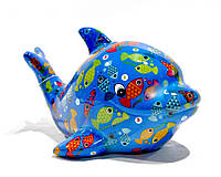Копилка Дельфин - Twisty F керамическая handmade ручная работа оригинальный подарок