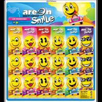 Освежитель воздуха AREON ароматизатор,освежитель сухой листик Smile Dry MIX на планшете 60 штук