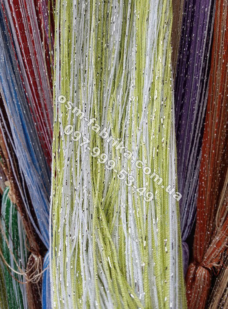 Однотонные шторы-нити с люрексом оптом и в разницу