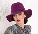 Шляпка с полями  из фетра под мужской стиль, фото 3