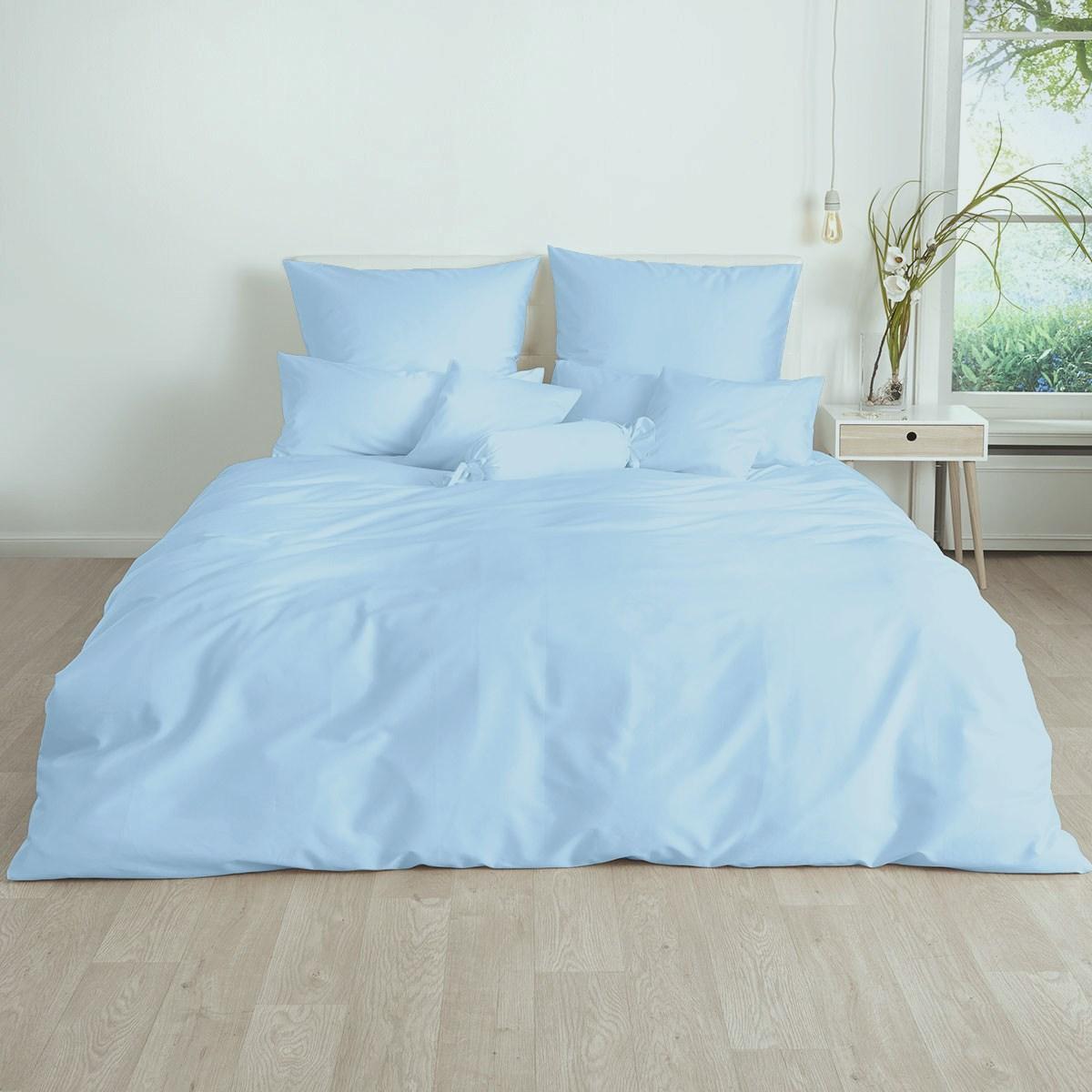 Постельное белье Небесно-голубой поплин ТМ Царский дом  (Евро)