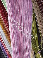 Розовые шторы-нити кисея от производителя