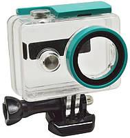 Аквабокс, водонепроницаемый бокс для экшн камер Xiaomi YI (код № XTGP250) - голубой